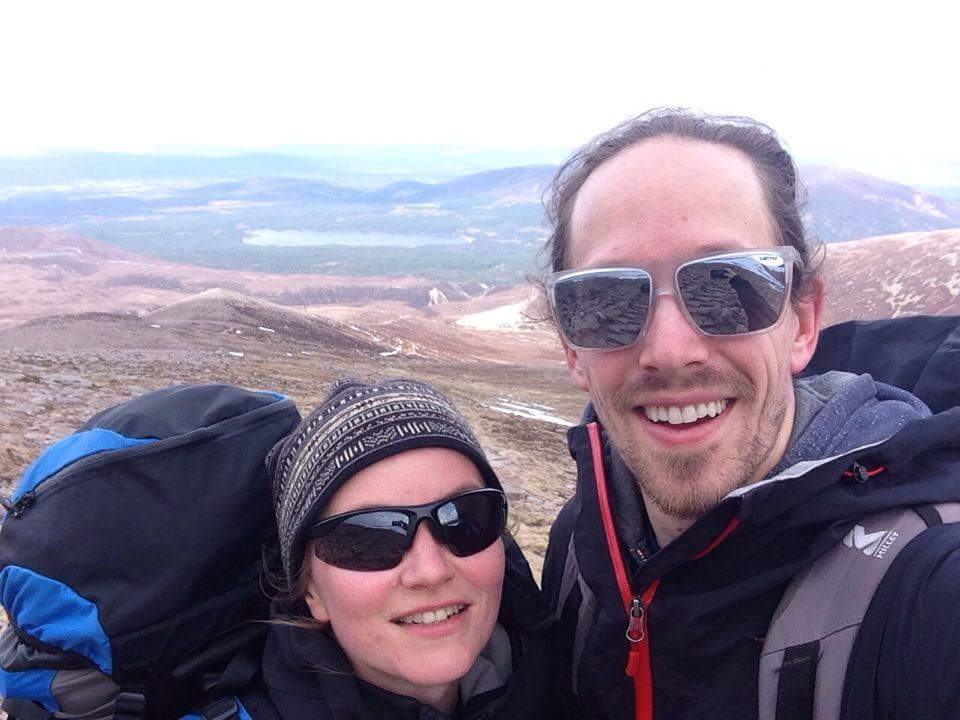 Macdui selfie ridge